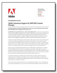 Adobe Announces Support for Ibm Db2 Cont... by Adobe Systems