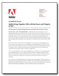 Adobe Brings Together Xml with the Power... by Adobe Systems