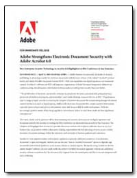 Adobe Strengthens Electronic Document Se... by Adobe Systems
