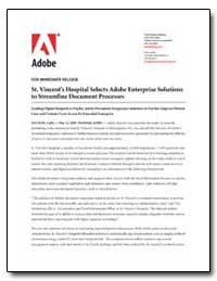 St. Vincents Hospital Selects Adobe Ente... by Adobe Systems