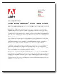 Adobe Reader for Palm Os, Version 3. 0 N... by Adobe Systems