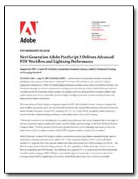 Next Generation Adobe Postscript 3 Deliv... by Adobe Systems