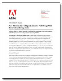 New Adobe Golive Cs Speeds Creative Web ... by Adobe Systems