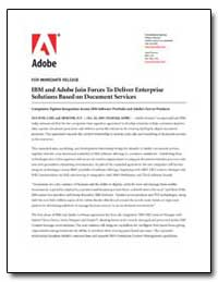 Ibm and Adobe Join Forces to Deliver Ent... by Adobe Systems