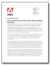 German Federal Finance Office Deploys Ad... by Adobe Systems
