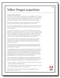 Yellow Dragon Acquisition : Faq by Adobe Systems