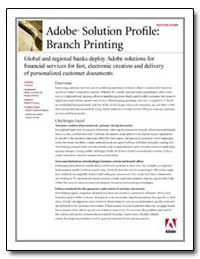 Adobe Solution Profile : Branch Printing by Adobe Systems