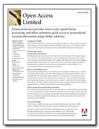 Open Access Limited Success Story Financ... by Adobe Systems