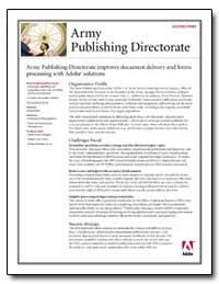 Army Publishing Directorate Improves Doc... by Adobe Systems