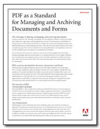 Pdf as a Standard for Managing and Archi... by Adobe Systems