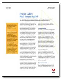Fraser Valley Real Estate Board Real Est... by Adobe Systems
