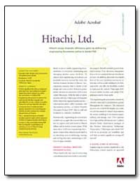 Hitachi Enjoys Dramatic Efficiency Gains... by Adobe Systems