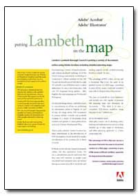 Putting Lambeth on the Map : Londons Lam... by Adobe Systems