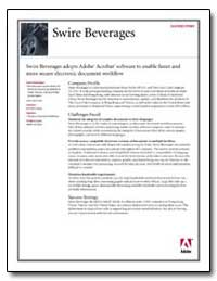 Swire Beverages : Swire Beverages Adopts... by Adobe Systems