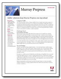 Murray Prepress Success Story Adobe Solu... by Adobe Systems
