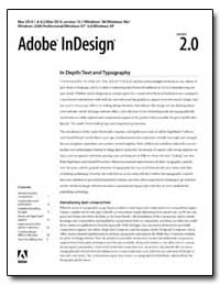 Adobe Indesign 2. 0 : In Depth : Text an... by Adobe Systems