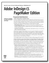 Adobe Indesign Cs Pagemaker Edition : Fr... by Adobe Systems