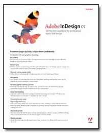 Adobe Indesign Cs by Adobe Systems