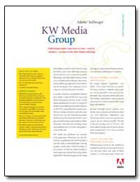 Kw Media Group : Publishing Leader Impro... by Adobe Systems