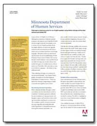 Minnesota Department of Human Services :... by Adobe Systems