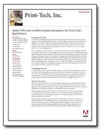 Print-Tech, Inc. : Adobe Pdf Print Workf... by Adobe Systems