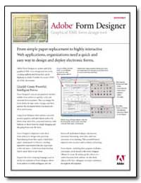 Adobe Form Designer Graphical Xml Form D... by Adobe Systems