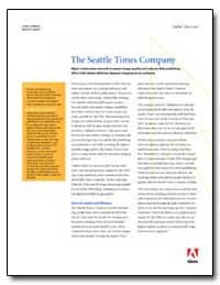The Seattle Times Company : Major Online... by Adobe Systems