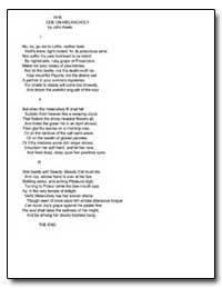 Ode on Melancholy by Keats, John