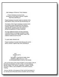 Magna Carta by Various