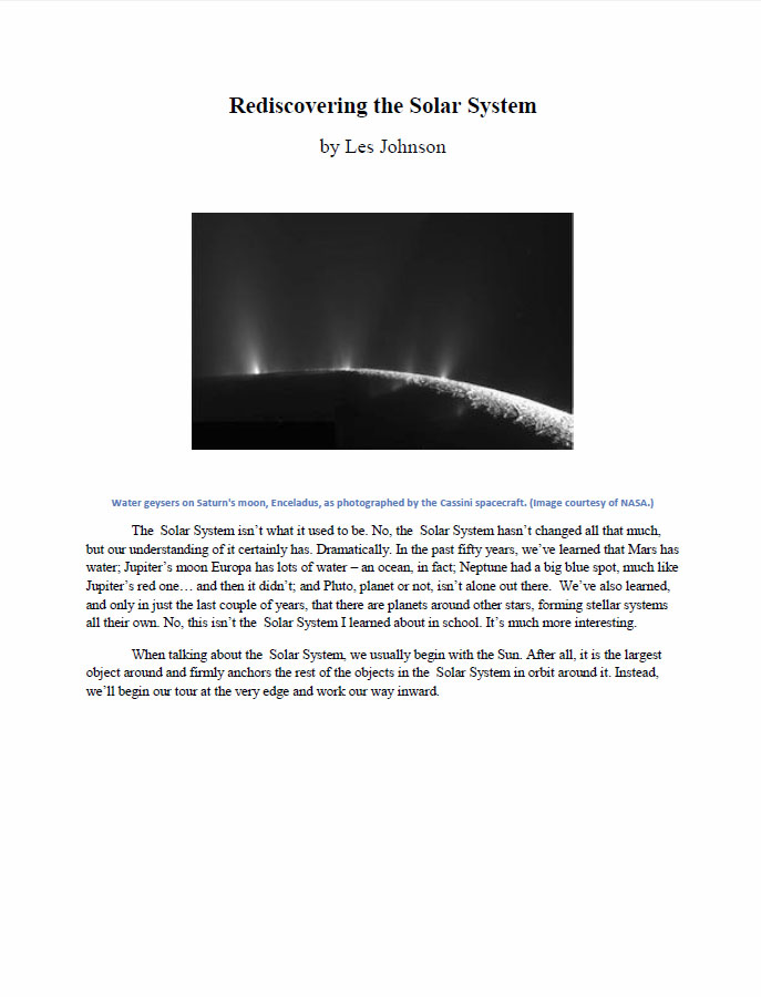 Rediscovering the Solar System by Johnson, Les