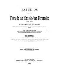 Biblioteca Hispanica : Studies on the Fl... by Johow, Friedrich