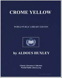 Crome Yellow by Huxley, Aldous