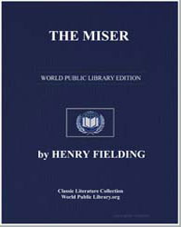 The Miser by Fielding, Henry