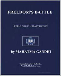 Freedom's Battle by Gandhi, Mahatma