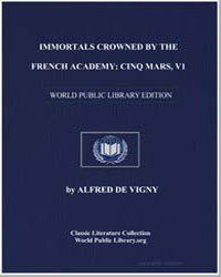 Immortals Crowned by the French Academy ... by De Vigny, Alfred