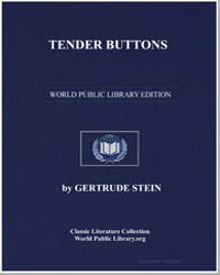 Tender Buttons by Stein, Gertrude