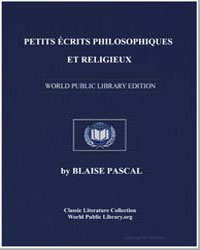 Petits Ecrits Philosophiques et Religieu... by Pascal, Blaise