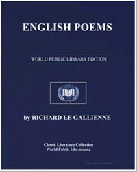English Poems by Le Gallienne, Richard