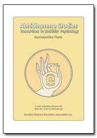 Abhidhamma Studies Researches in Buddhis... by Thera, Nyanaponika