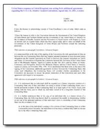 United States Response to United Kingdom... by Farish, William S.