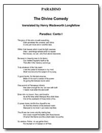 Paradiso the Divine Comedy by Longfellow, Henry Wadsworth