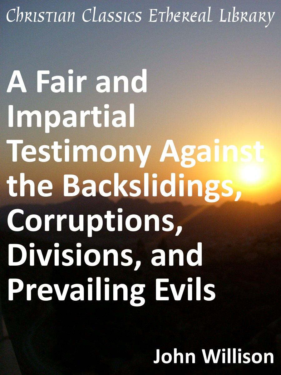 Willisons Testimony: Prefatory Statement by Willison, John