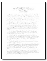 Statement of Benjamin H. Grumbles Acting... by Environmental Protection Agency