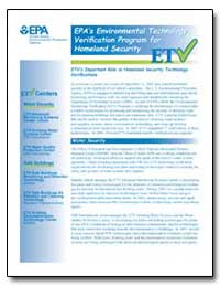 Epa's Environmental Technology Verificat... by Environmental Protection Agency