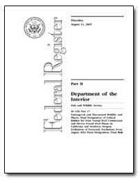 Part II Department of the Interior by Environmental Protection Agency