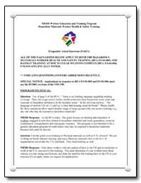 Niehs Worker Education and Training Prog... by Environmental Protection Agency
