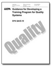 Guidance for Developing a Training Progr... by Environmental Protection Agency