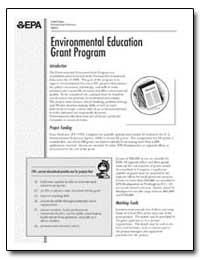 Environmental Education Grant Program by Environmental Protection Agency