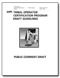 Tribal Operator Certification Program Dr... by Environmental Protection Agency