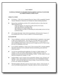 National Emission Standards for Hazardou... by Environmental Protection Agency